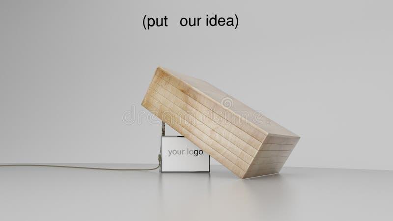 conceito da rendição 3D de uma ideia roubar seu cliente ou para alguns ilustração stock