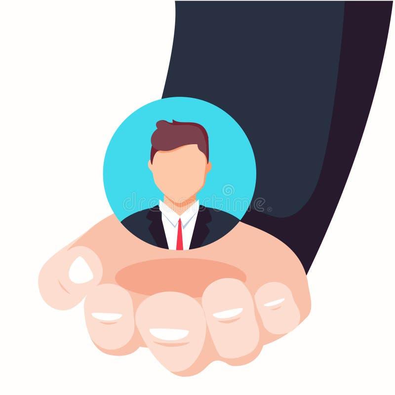 Conceito da retenção do cliente Cuidado do cliente Fornecer salvar a lealdade do cliente ilustração royalty free