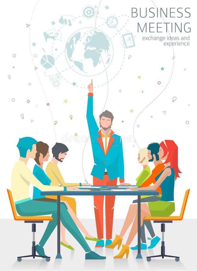 Conceito da reunião de negócio ilustração royalty free