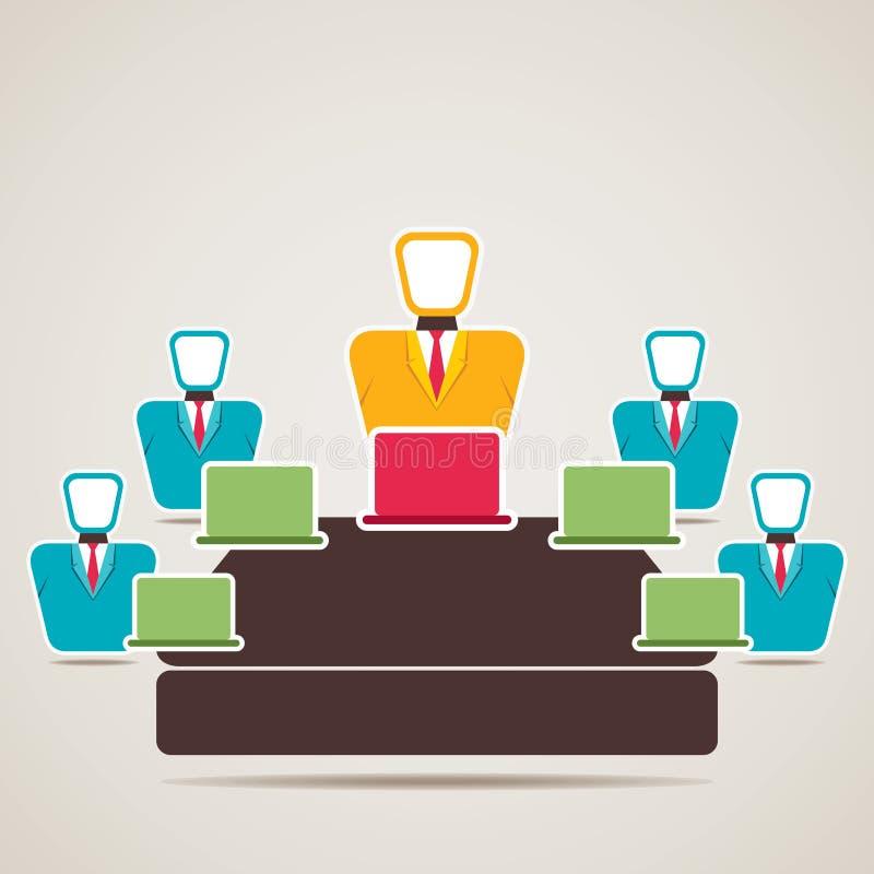 Conceito da reunião de negócios ilustração royalty free