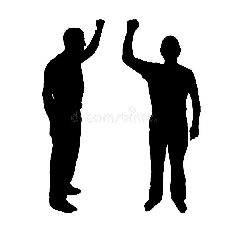 conceito da reunião do descontentamento homens ilustração do vetor