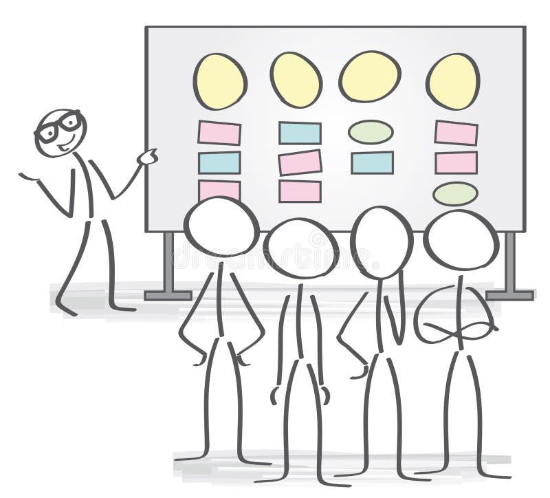 Conceito da reunião e da sessão de reflexão ilustração royalty free