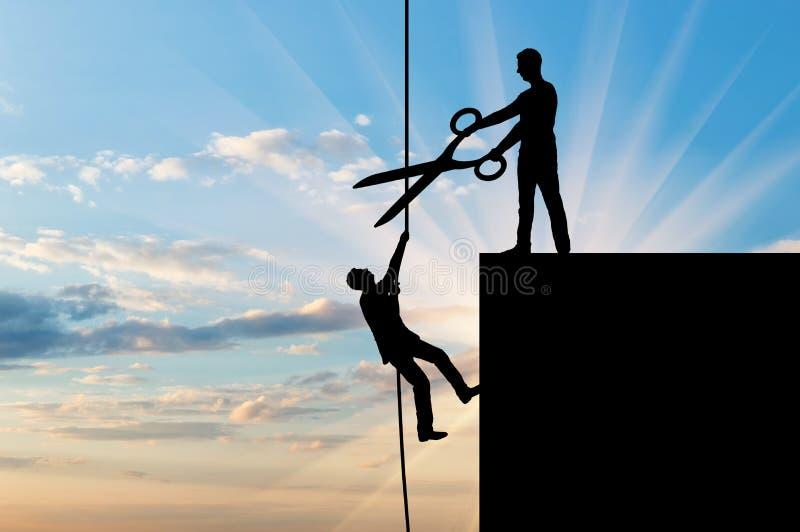Conceito da rivalidade e do risco do negócio fotos de stock royalty free