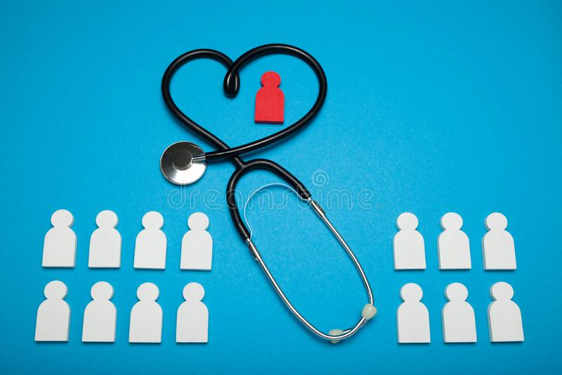 Conceito da saúde do coração, cardiologia Paciente m?dico imagem de stock royalty free
