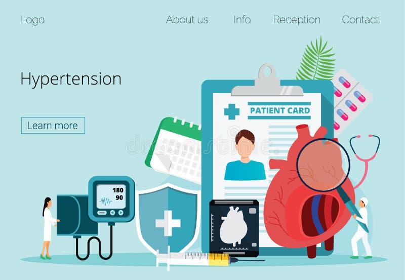 Conceito da saúde da hipotensão e alto - pressão sanguínea do colesterol ilustração do vetor