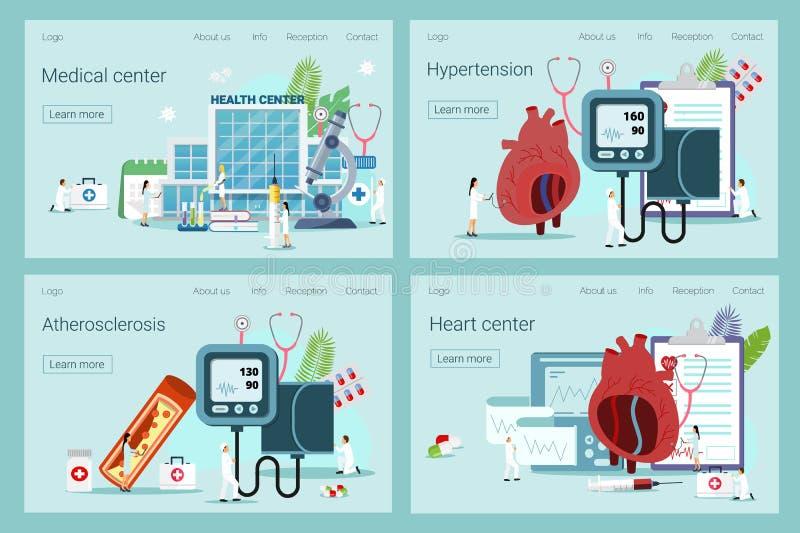 Conceito da saúde da hipotensão e da hipertensão ilustração royalty free