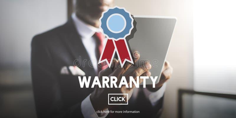Conceito da satisfação da garantia do controle da qualidade da garantia foto de stock