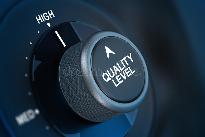 Conceito da satisfação do cliente da gestão de qualidade total ilustração do vetor
