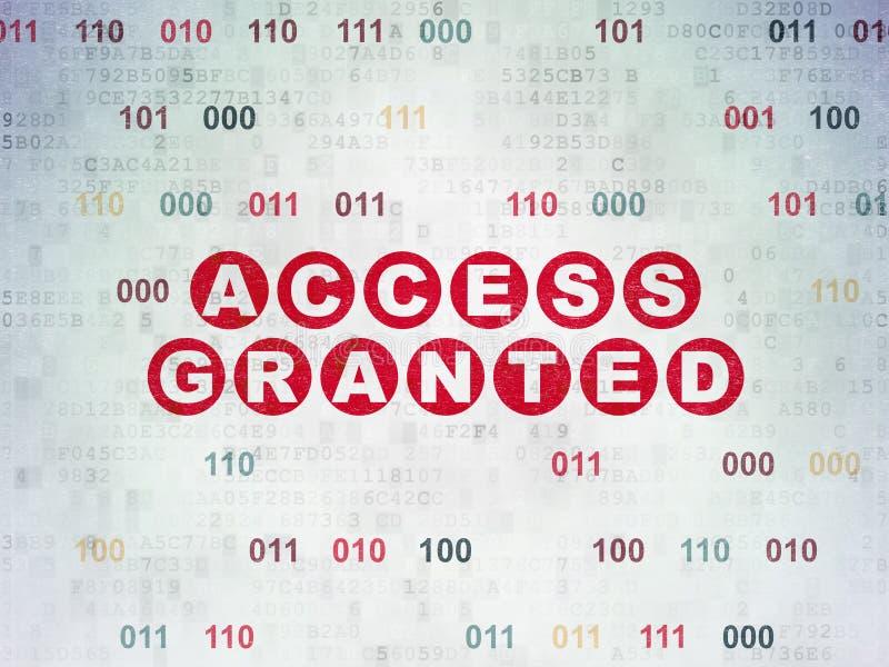 Conceito da segurança: Alcance concedido no fundo do papel dos dados de Digitas ilustração royalty free