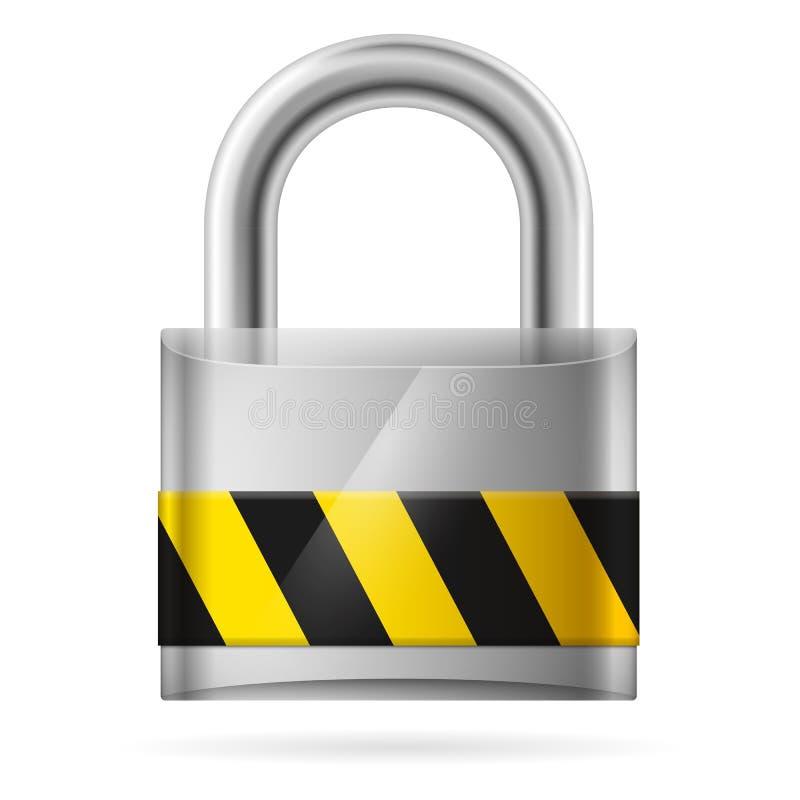 Conceito da segurança com o fechamento de almofada fechado ilustração royalty free