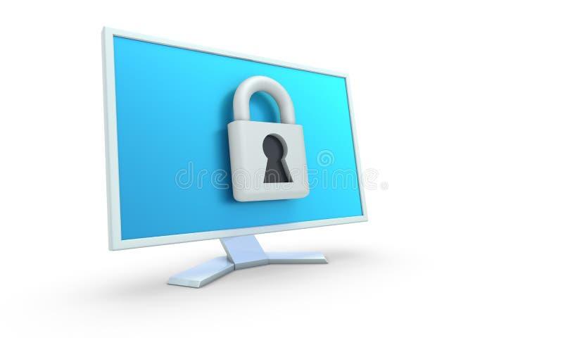 Conceito da segurança de computador. ilustração do vetor