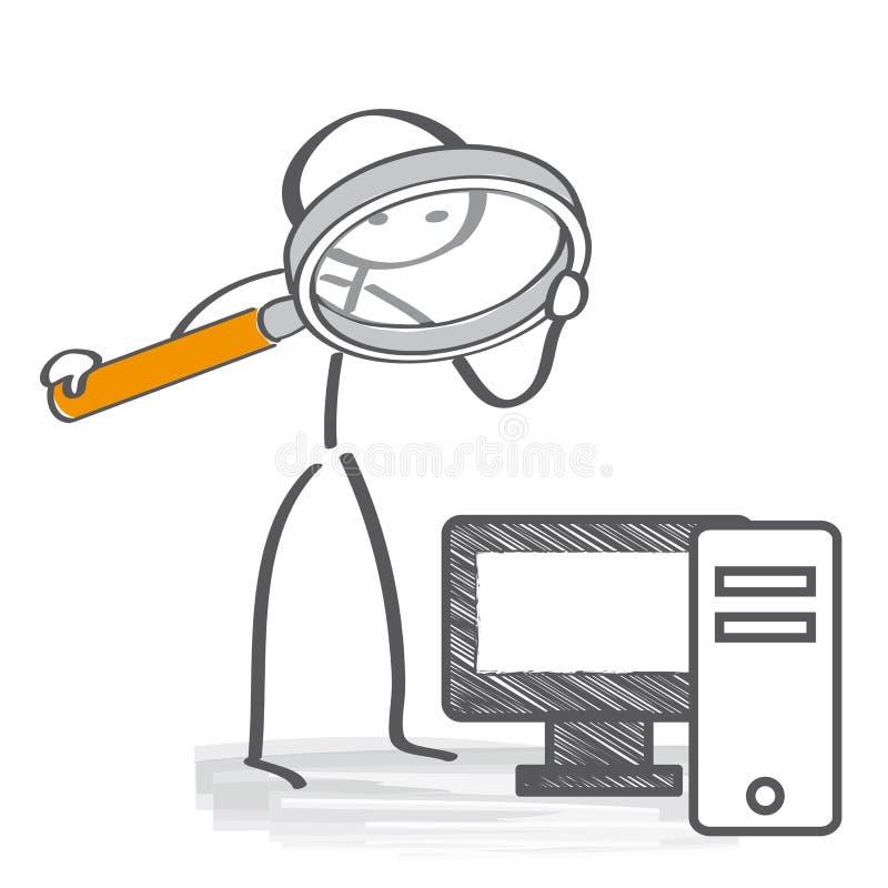 Conceito da segurança de computador ilustração do vetor