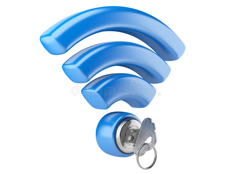 Conceito da segurança de WiFi ilustração royalty free