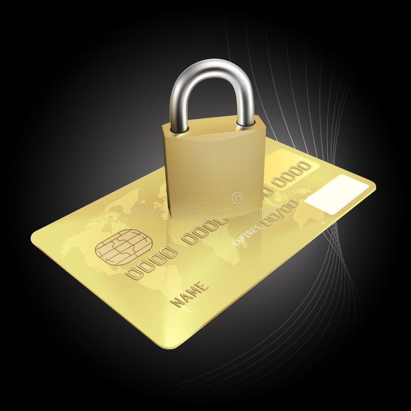 Conceito da segurança do cartão de crédito ilustração stock