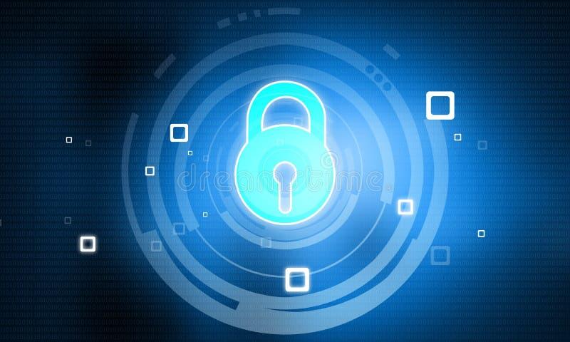 Conceito da segurança do Cyber ilustração stock