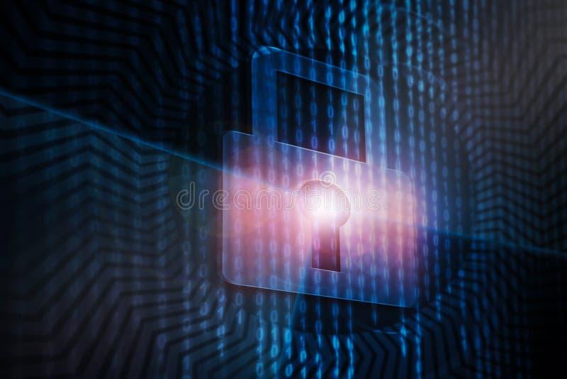 Conceito da segurança do Cyber imagem de stock