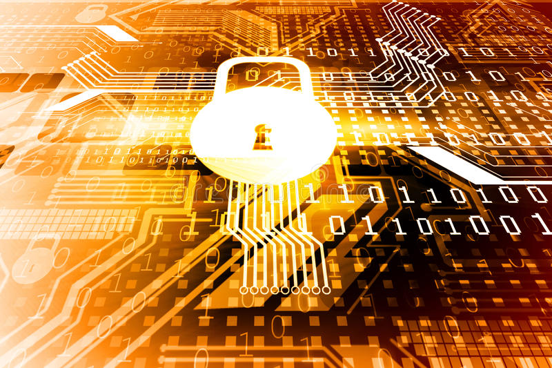 Conceito da segurança do Cyber, foto de stock royalty free