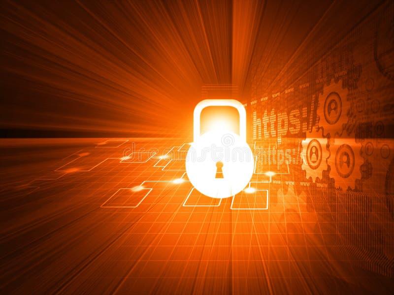 Conceito da segurança do Cyber ilustração royalty free