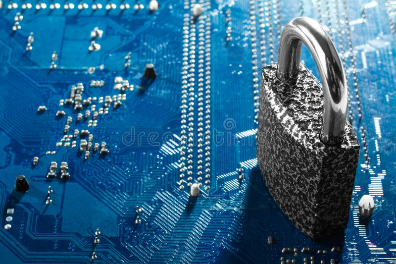 conceito da segurança do cyber foto de stock