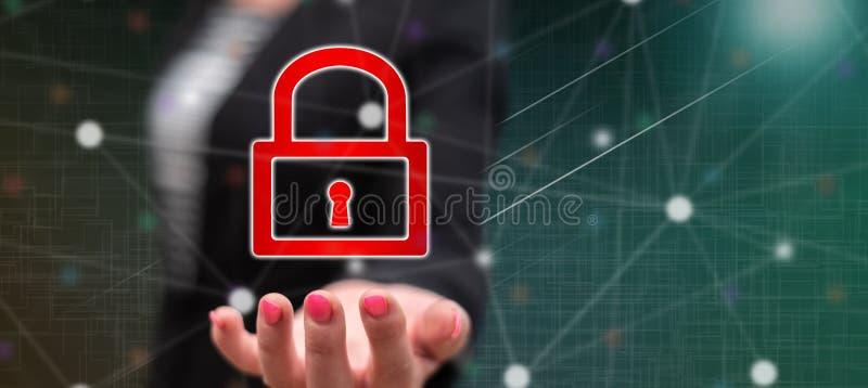 conceito da segurança do cyber foto de stock royalty free