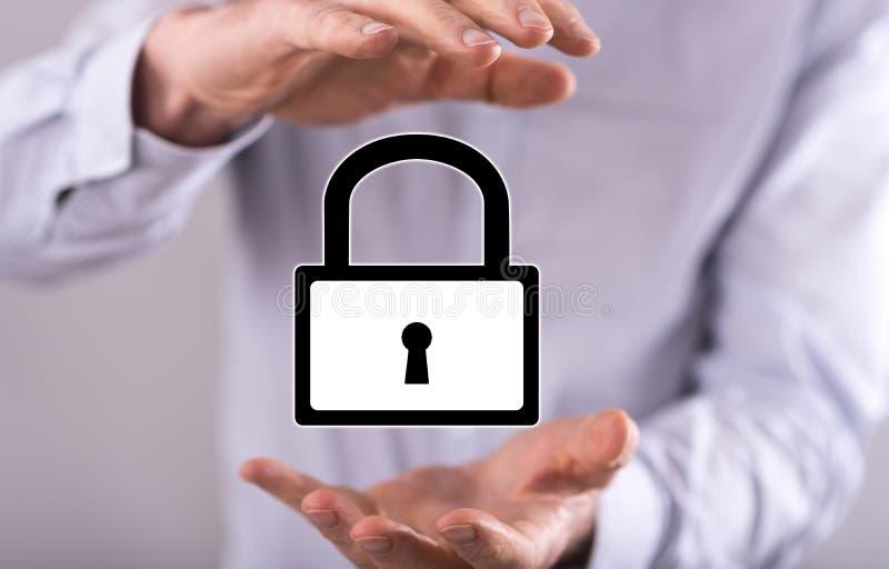 conceito da segurança do cyber fotos de stock royalty free