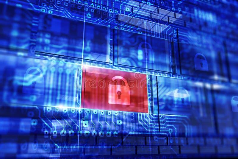 Conceito da segurança dos dados ilustração do vetor