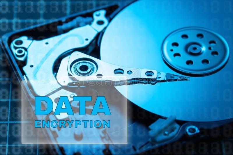 Conceito da segurança dos dados Criptografia de dados imagens de stock royalty free