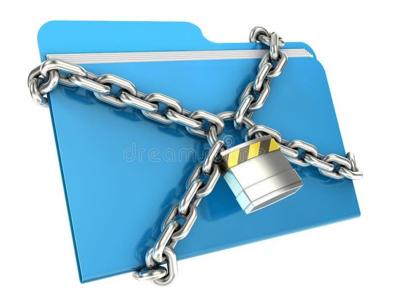 Conceito da segurança dos dados do computador ilustração do vetor