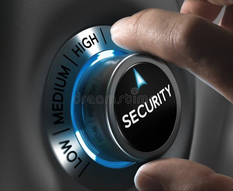 Conceito da segurança e da gestão de riscos ilustração do vetor