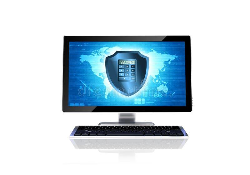 Conceito da segurança informática imagens de stock
