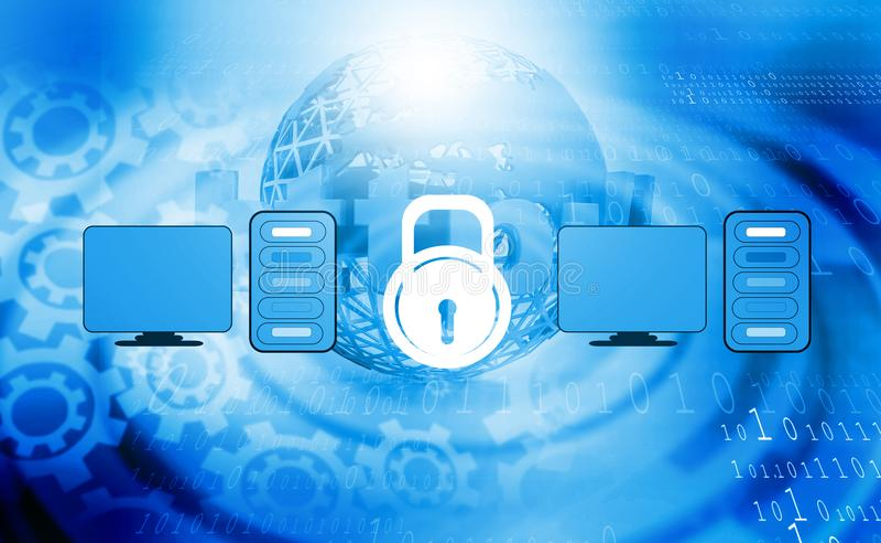 Conceito da segurança informática ou da segurança foto de stock royalty free