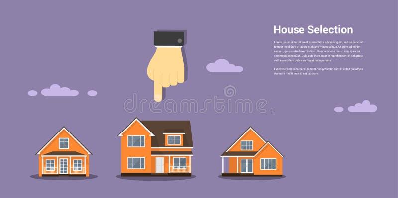 Conceito da seleção da casa ilustração do vetor