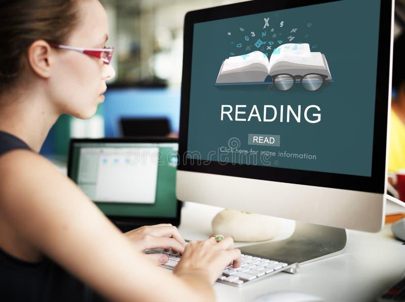 Conceito da solução da visão da inteligência do conhecimento da leitura imagens de stock royalty free