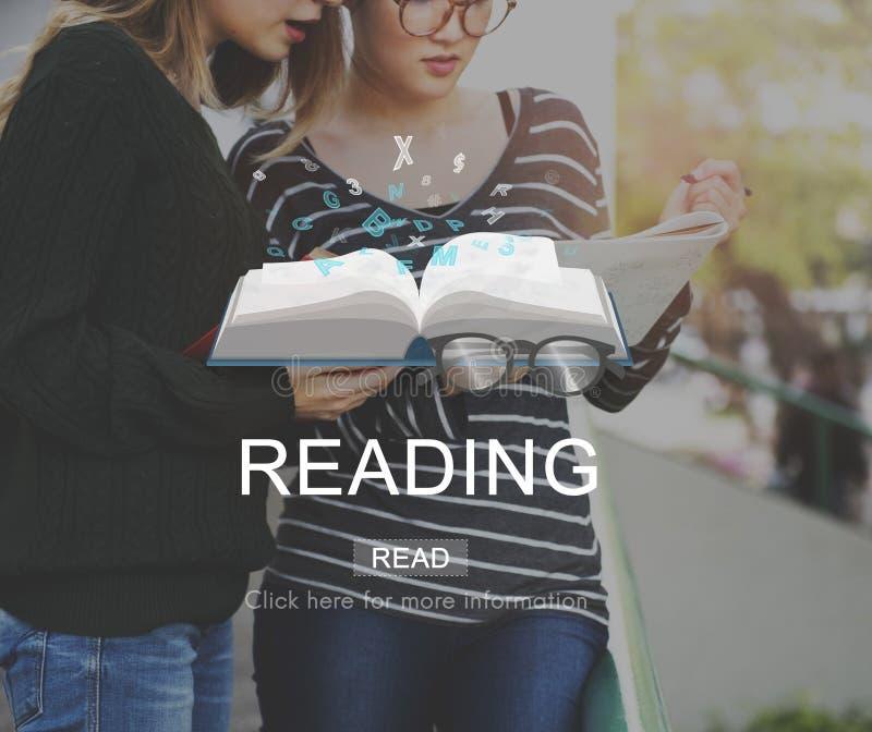 Conceito da solução da visão da inteligência do conhecimento da leitura imagem de stock