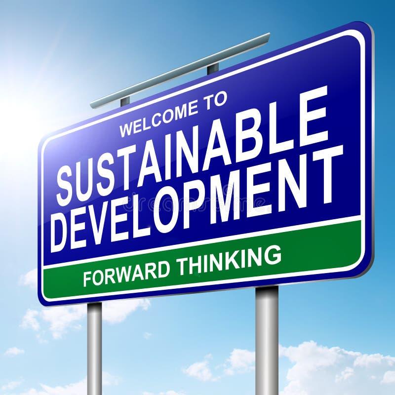 Conceito da sustentabilidade. ilustração do vetor