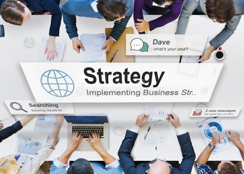 Conceito da tática do processo de planeamento da visão da estratégia foto de stock royalty free