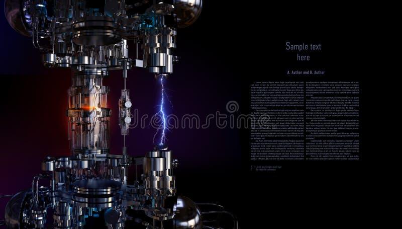 Conceito da tecnologia alto - a instalação da tecnologia ilustração 3D ilustração do vetor