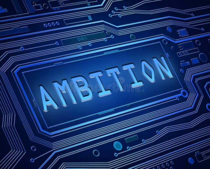 Conceito da tecnologia da ambição ilustração do vetor