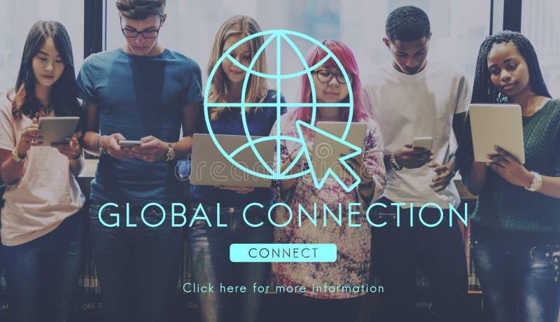 Conceito da tecnologia da conexão de rede global imagem de stock