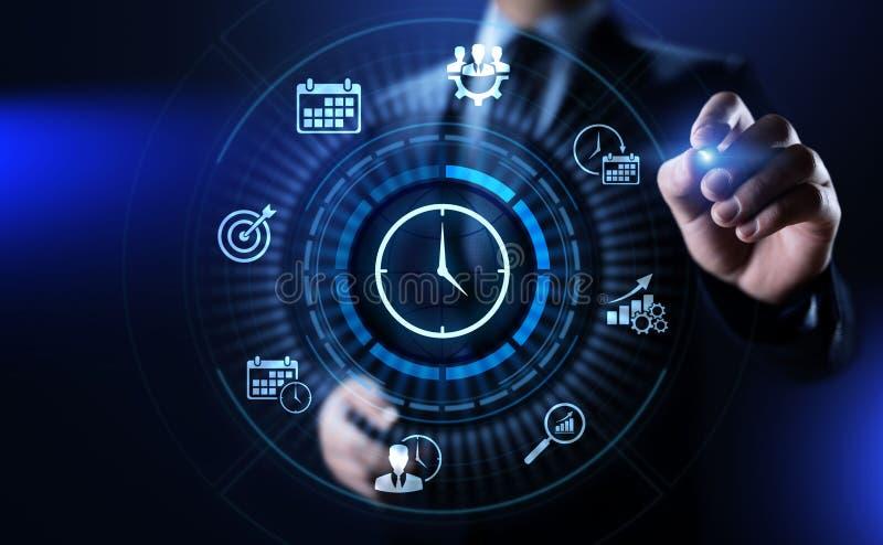 Conceito da tecnologia do Internet do negócio do planeamento de projeto da gestão de tempo fotografia de stock royalty free