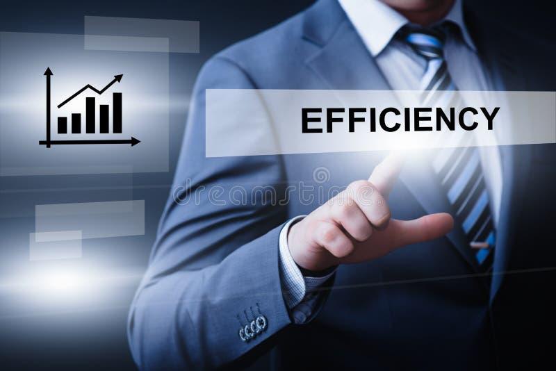 Conceito da tecnologia do Internet do negócio da produtividade do impoverment da eficiência fotografia de stock royalty free