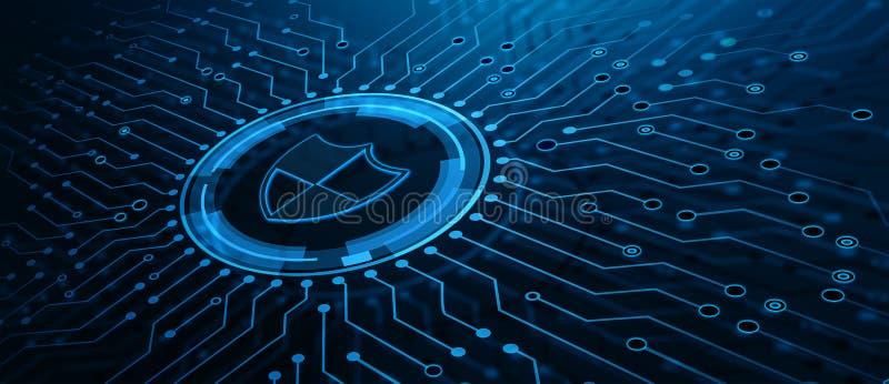 Conceito da tecnologia do Internet do neg?cio da privacidade da seguran?a do Cyber da prote??o de dados imagens de stock royalty free