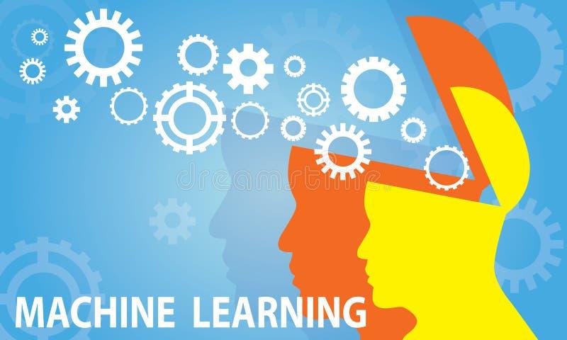 Conceito da tecnologia do negócio da aprendizagem de máquina ilustração stock