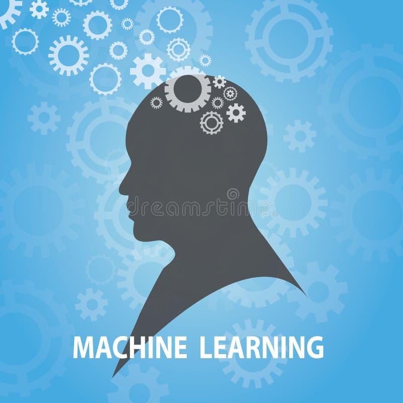 Conceito da tecnologia do negócio da aprendizagem de máquina ilustração do vetor