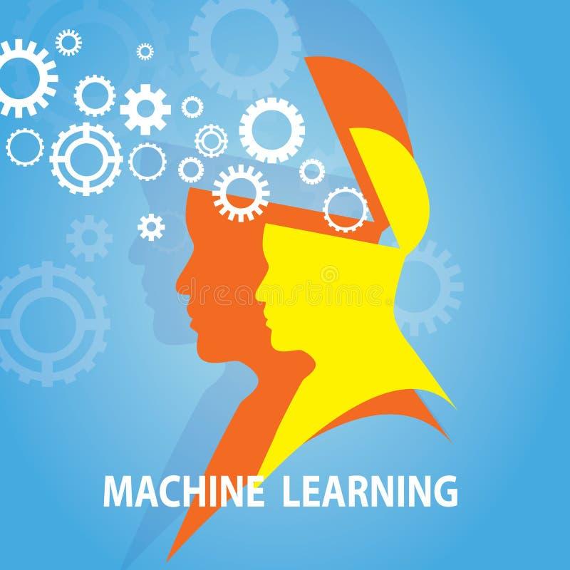 Conceito da tecnologia do negócio da aprendizagem de máquina ilustração royalty free