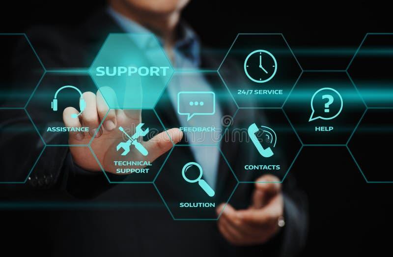 Conceito da tecnologia do negócio do Internet do serviço ao cliente do centro de suporte laboral foto de stock royalty free