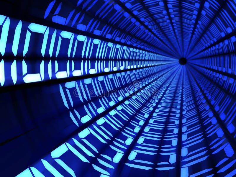 Conceito da tecnologia do túnel do código binário ilustração stock