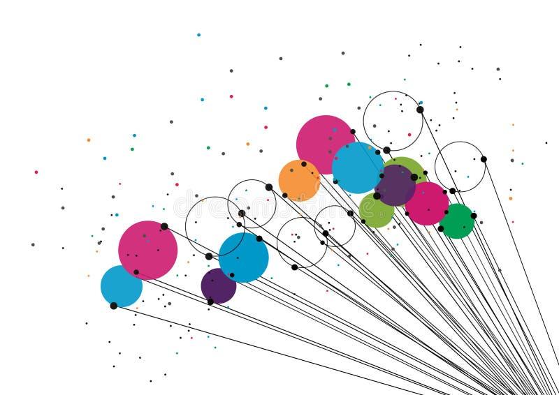 Conceito da tecnologia do vetor Linhas e pontos conectados Sinal da rede ilustração stock