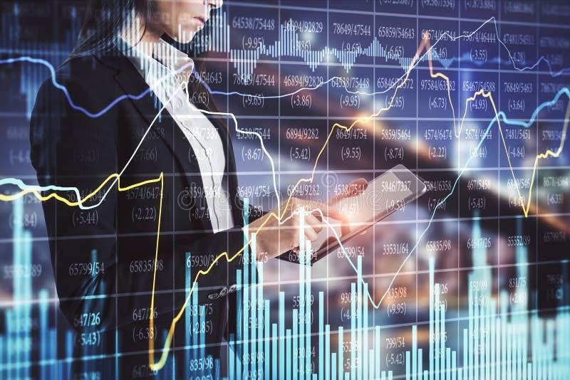 Conceito da tecnologia e do comércio ilustração stock