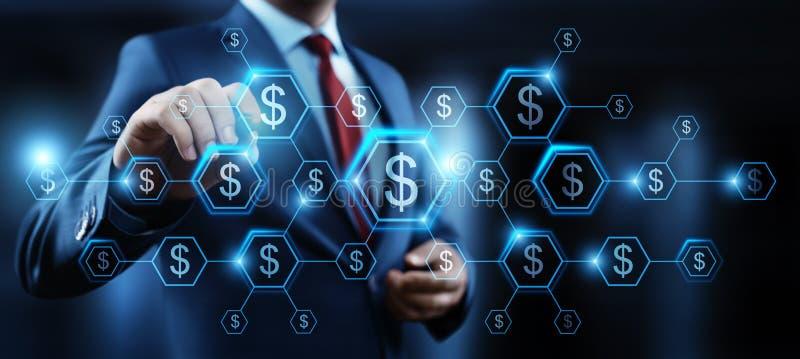 Conceito da tecnologia da finança da operação bancária do negócio da moeda do dólar ilustração stock
